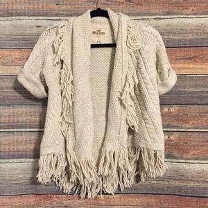Hollister fringe cardigan sweater